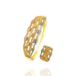 نساء هبة محدّد [كبّر لّوي] نوع ذهب يصفح سوار محدّد حلق مجوهرات محدّد