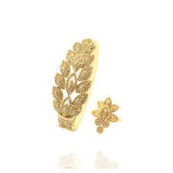 مضيئة [رهينستون] أساور مهرجان يترك هبة نوع ذهب فضة طبيعيّ ورقة تصميم