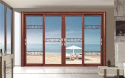 Doppi finestra e portello di scivolamento di alluminio lustrati resistenti economizzatori d'energia di profilo