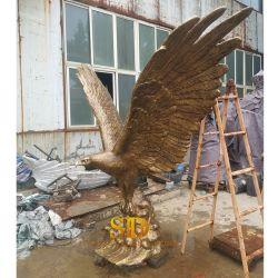 Große Egal Tierbronzestatue-Bronzeskulpturen für im Freiengarten-Dekor