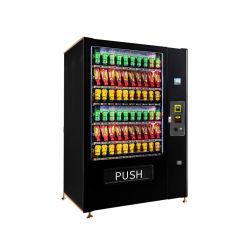 Professional Combo comercial inteligente Automático Personalizado snacks frios bebidas beber cerveja leite suco de laranja e café máquina de venda automática com sistema de arrefecimento