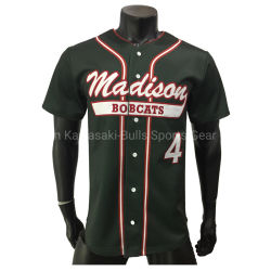 Los jóvenes Hombres camiseta béisbol personalizado tira sublime personalizados bordados bordados Camiseta de béisbol