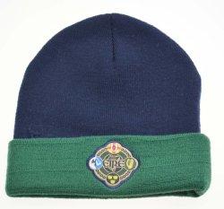 Los colores de contraste BSCI 100% acrílico tejido bordado personalizado Beanie Hat