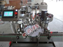 Vollautomatische kleine Flaschen-Flüssigkeit-füllende mit einer Kappe bedeckende Maschine