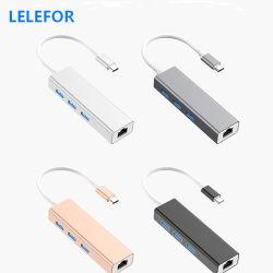 4 en 1-C Hub USB de tipo C Multiport Card Reader 4K adaptador HDMI para portátil con Hub USB Adaptador de alimentación de alta velocidad para PC