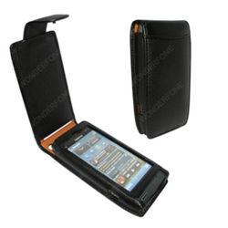 Снг Черный кожаный футляр для Nokia N8