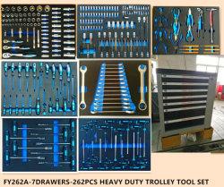 7laden Professionele Trolley gereedschapsset voor zwaar gebruik in EVA-verpakking (FY262A)
