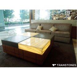 Onyx artificial de piedra de alabastro del panel translúcido de mármol para mesa de té