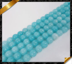 Bleu, commerce de gros de Pierres de Jade de Perles La fabrication de bijoux de perles de jade (GB066)