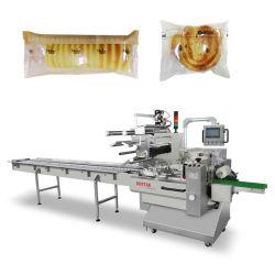 도넛 도넛 빵 Mooncake/월병 빵집 제품 자동적인 회전하는 플라스틱 베개 부대 포장기 포장 기계장치