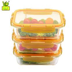 Печь безопасной высокой боросиликатного стекла в контейнер для хранения продовольствия для коробки с едой 3,