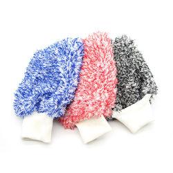 غسيل بالجملة بالألياف الدقيقة الناعمة وغسيل السيارات غالحب تنظيف منشفة من الألياف الدقيقة قفازات
