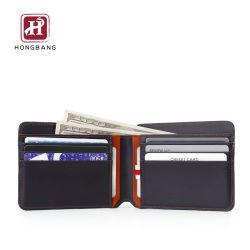 Тонкий бумажник мужчин из натуральной кожи с помощью блокирования RFID