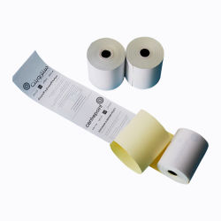 Золотая фольга завернутые NCR рулона бумаги 2 Ply розовый и белый безуглеродной копировальной рулона бумаги 75х70мм