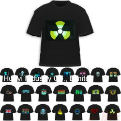 Camisetas gráficas del equalizador LED