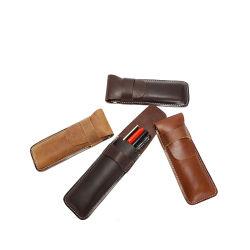 Promozione del regalo del supporto della penna della cassa di matita del cuoio genuino di alta qualità