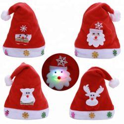 Gorro Navidad LED 점화 크리스마스 모자 성숙한 크리스마스 산타클로스 모자 장식적인 새해 훈장 Noel 크리스마스 훈장