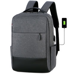 All'ingrosso computer portatile da viaggio Unisex Business in nylon nero impermeabile di alta qualità Zaino con ricarica USB