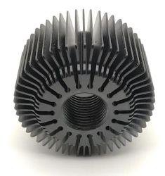 رادياتير من الألومنيوم بمشتت ضوئي LED أسود 56 مم 60 مم ألومنيوم خفيف الوزن بلون الفخون طرد المشتت الحراري