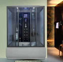 تكلفة الحمام على كابينة ذات إطار أسود ورمادي ودش زجاجية على الطراز الجديد السعر
