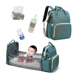 Windel-Beutel-Mamma-und Vati-Rucksack-Multifunktionsbaby-Bett-Beutel-Mutterschaftskrankenpflege-Handtaschen-Spaziergänger-Beutel