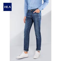 O HLA Cool Ice Bar Oxigénio Jeans Primavera 2020 Novo lavados Barba Cat Pants Homens