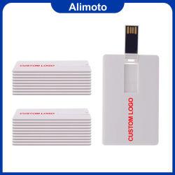 Kunststoff Thin Kreditkarte USB-Flash-Laufwerk Alimoto CC01