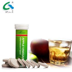 La belleza y cuidado de la piel pérdida de peso adelgaza la bebida energética efervescente Tablet vinagre de manzana