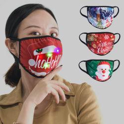 طباعة ثلاثية الأبعاد مخصصة باستخدام ضوء LED للمبيعات من المصنع لقناع الوجه من القطن عيد الميلاد حزب الوجه قناع