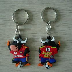 Spainish Bull Etiqueta da chave de borracha/chaves/Key Ring (ASNY-PC-CZ-076)