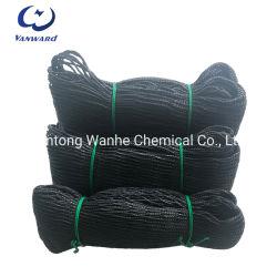 Red de pesca de seguridad de suministro de fibra de UHMWPE Negro Knoetless Net