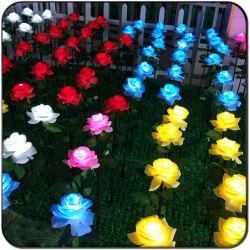 Fiori di rosa a LED con Stick Golden LED Rose Flower Light
