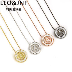 Poignée de commande de bijoux de mode de vente en gros 26 lettres anglaises NECKLACE Bijoux