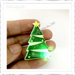 党昇進のギフトの記念品のギフトのためのカスタム方法クリスマスのDeorationボタンのバッジLEDの点滅の点滅ボタン