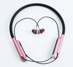 메탈릭 컬러 및 넥 밴드 스타일 스포츠 무선 Bluetooth 이어 헤드폰 핑크