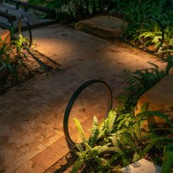 IP65 7-W-Ringform Garten Dekorativer Rasen Bollard Light
