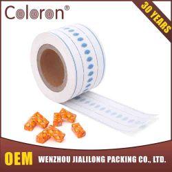 Imprime la hoja de papel recubierto de cera para envolver caramelos