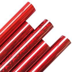 Ferro olografico di cristallo rosso del vinile di scambio di calore sulla pellicola dei vestiti della maglietta