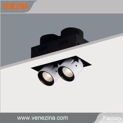 Double réglable LED Spots Trimless Grill LED feux d'intérieur vers le bas