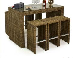 Patio de loisirs de haute qualité l'Osier Président et de table Pub Bar Bistro moderne de meubles de jardin en plein air en rotin