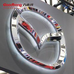 ABS personalizado capa metálica cromo signo iluminado Logotipos de coches Mazda