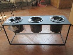 Jardim de alta qualidade flor preta Pot planta de ferro forjado estandes para venda