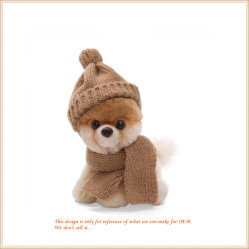 Зима собака с шарфом шикарные животных подарки для детей