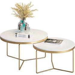 La piedra natural blanco/negro/verde/muebles de mármol beige mesa de café para el Hotel y restaurante suministros