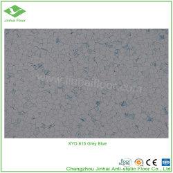 Xyd-615灰色の青い反静的なビニールESD PVC床タイル