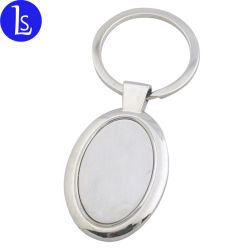 Supporto ovale di tasto dell'anello portachiavi del metallo di figura personalizzato marchio all'ingrosso della fabbrica