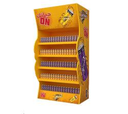 La fiera commerciale stampata di promozione schiocca in su il banco di mostra del cartone delle bevande