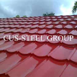 PPGI Toiture vitrée Feuilles/terrasse de toit de tuiles en acier de couleur