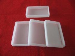 Carré blanc laiteux creusets en verre de quartz de silice de fusion