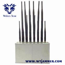 Teléfono móvil CDMA GSM 3G 4G Wifi Jammer bandas de radio VHF UHF